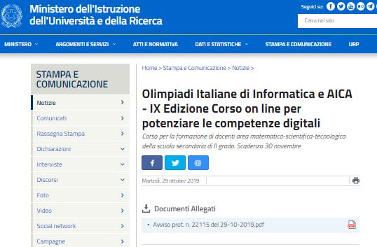 Corso online per docenti per potenziare le competenze digitali