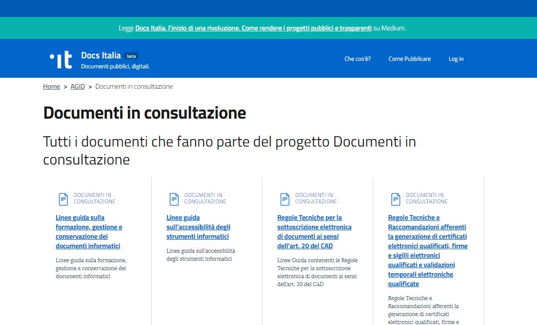 Le nuove linee guida AgID in consultazione